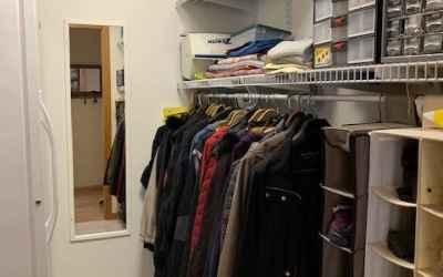 Coat closet/mudoom with area for freezer