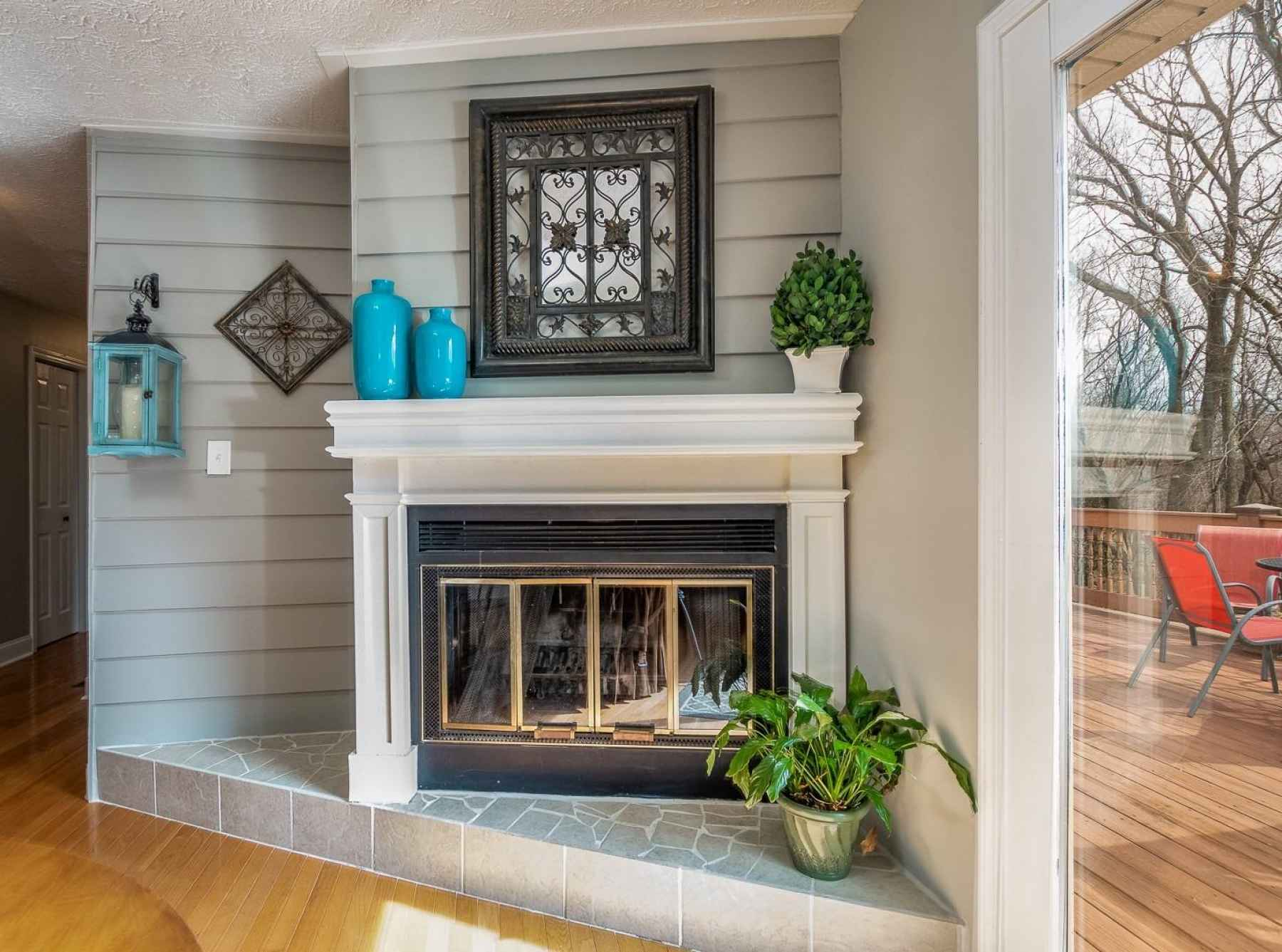Cozy up to this fireplace