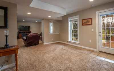 The full, finished, walk-out basement has so many windows to let the