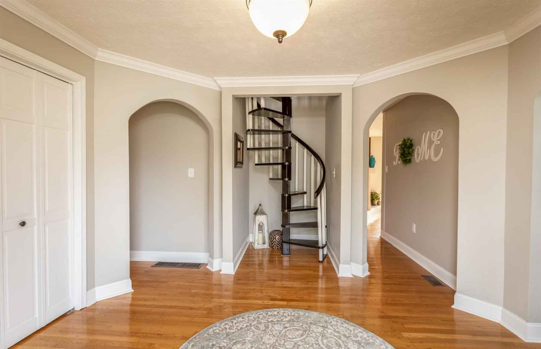 You're sure to notice the gleaming hardwood floors from the minute you step inside the home