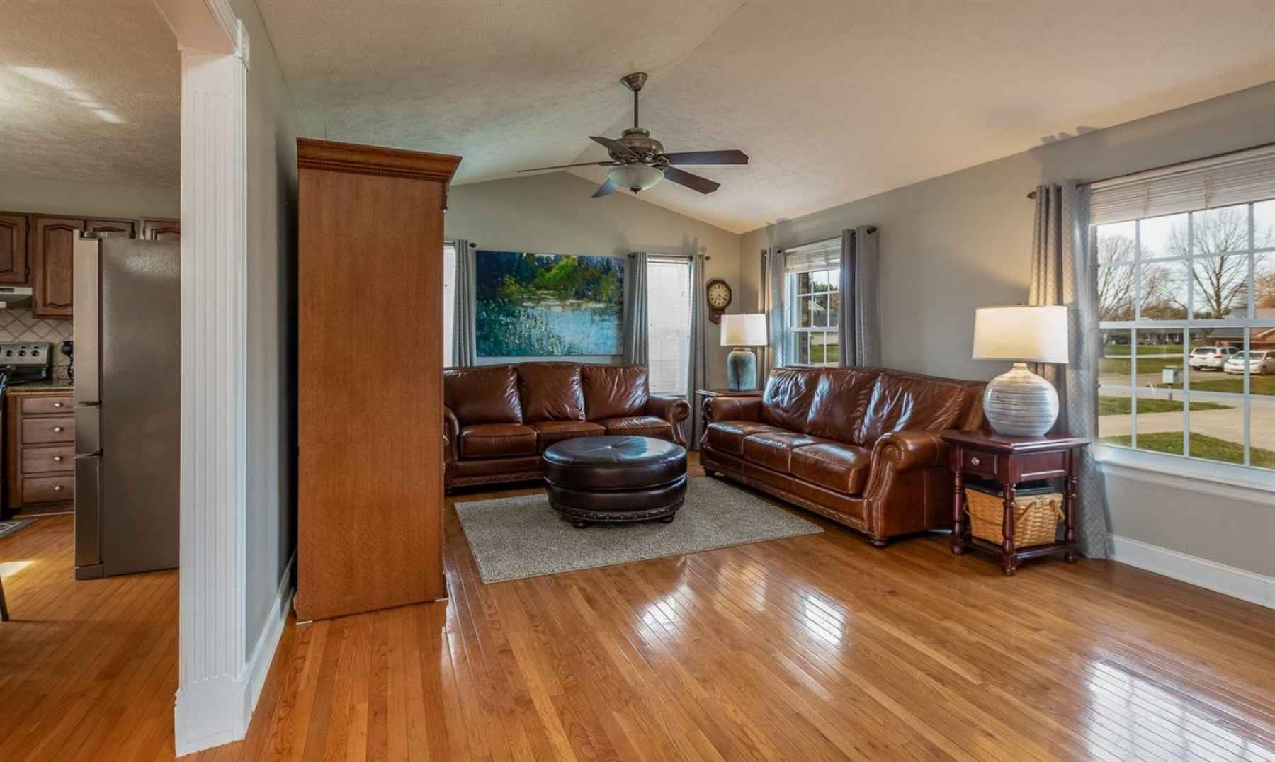 The open floor plan is ideal for entertaining