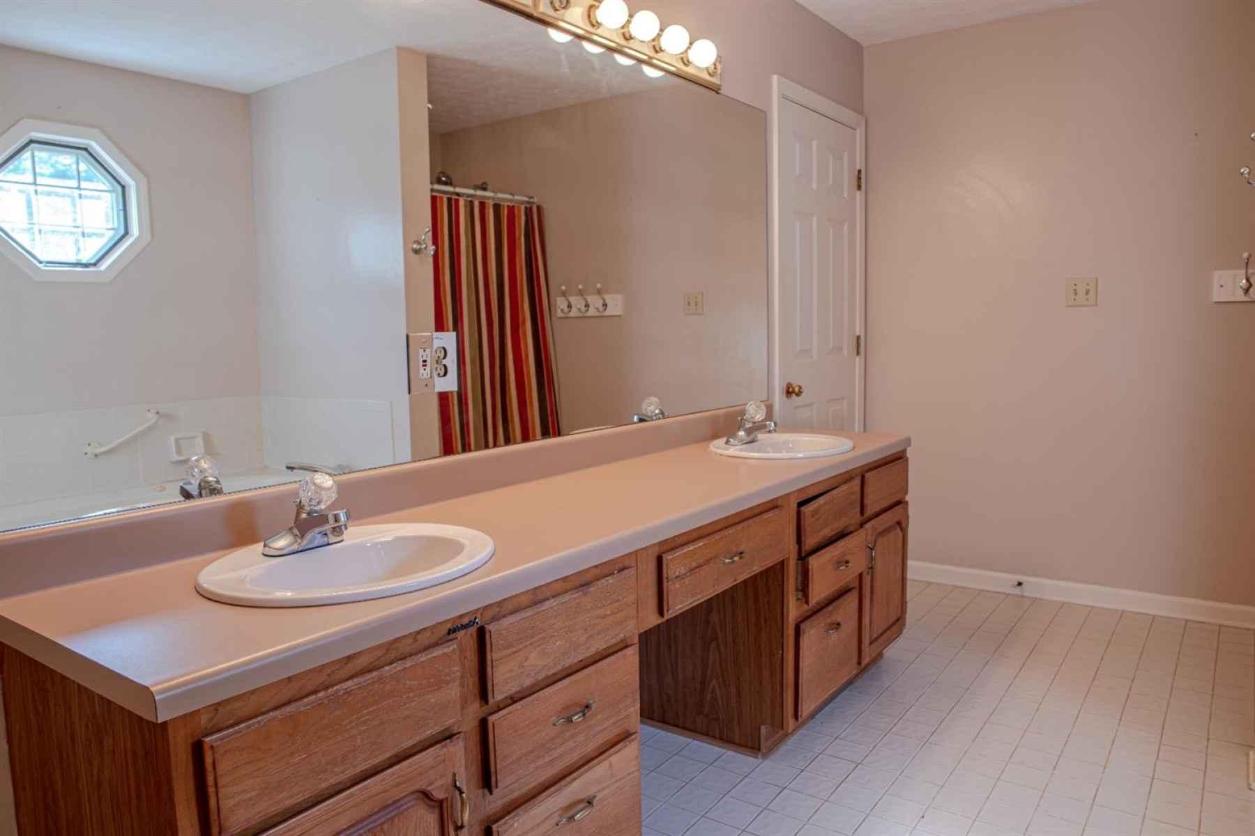 Double Vanities in This Large Bathroom
