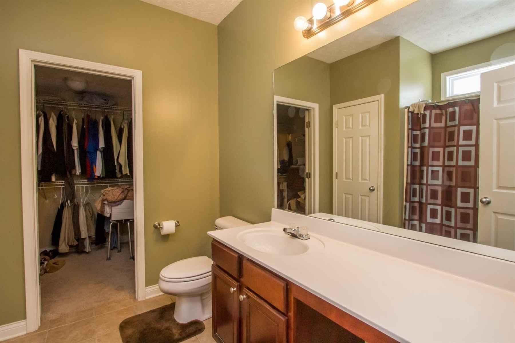 Master bath with walk in closet.
