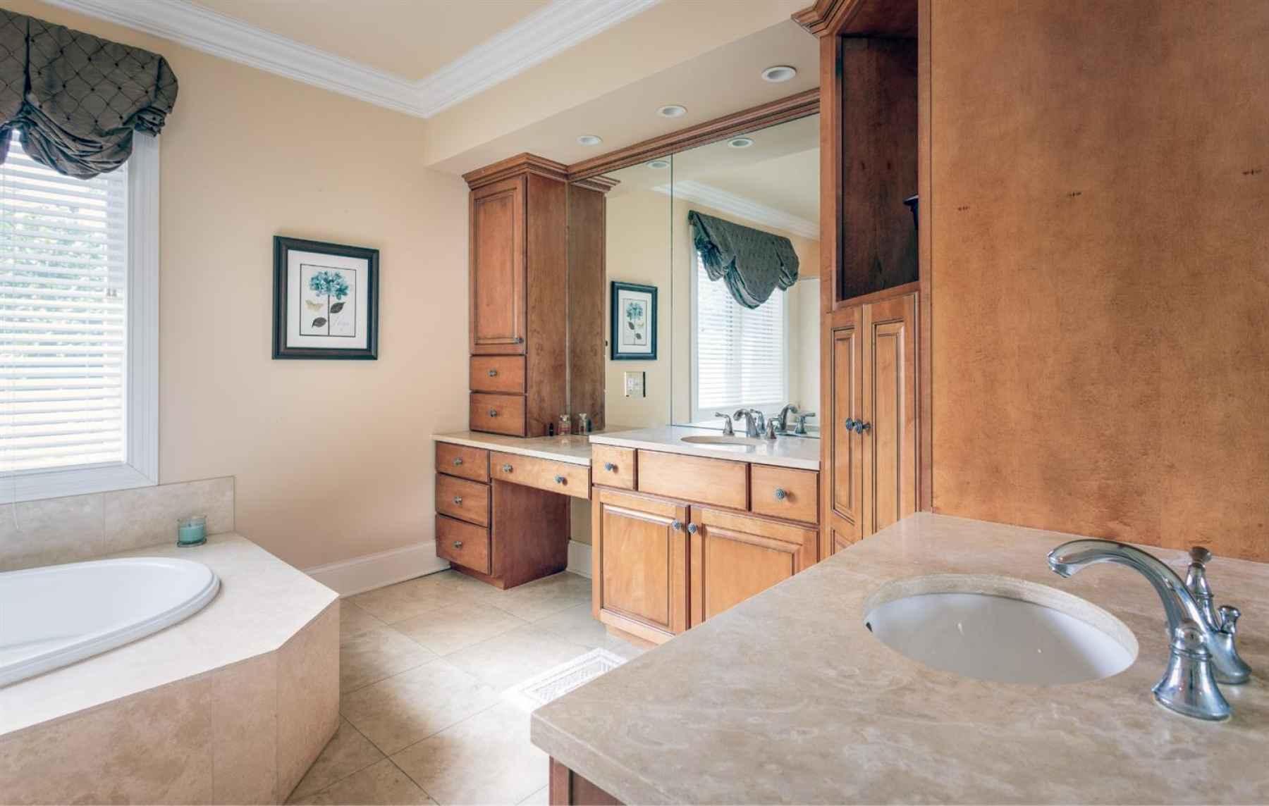 Master Bath with separate Vanities.