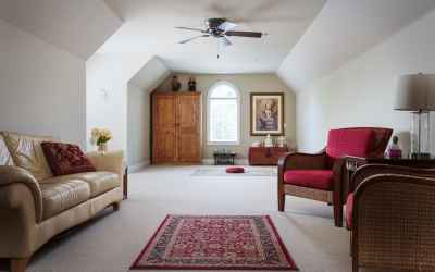 Bonus Room over the garage provides multiple options for 6th bedroom, Rec Rm, Theater Rm, etc. Includes walk-in closet.