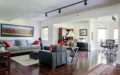 Spacious walkout basement with plenty of space for entertaining.