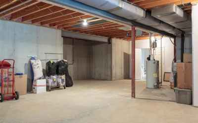 Basement features 1850 SqFt of unfinished space.