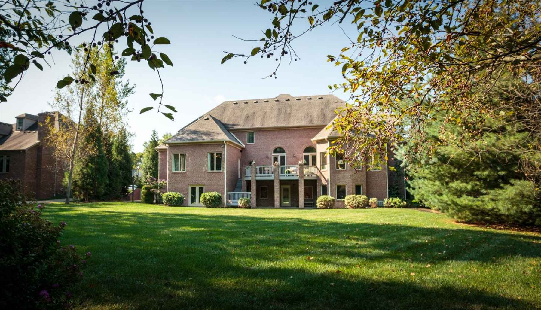 This home sits on 1.12 acres.