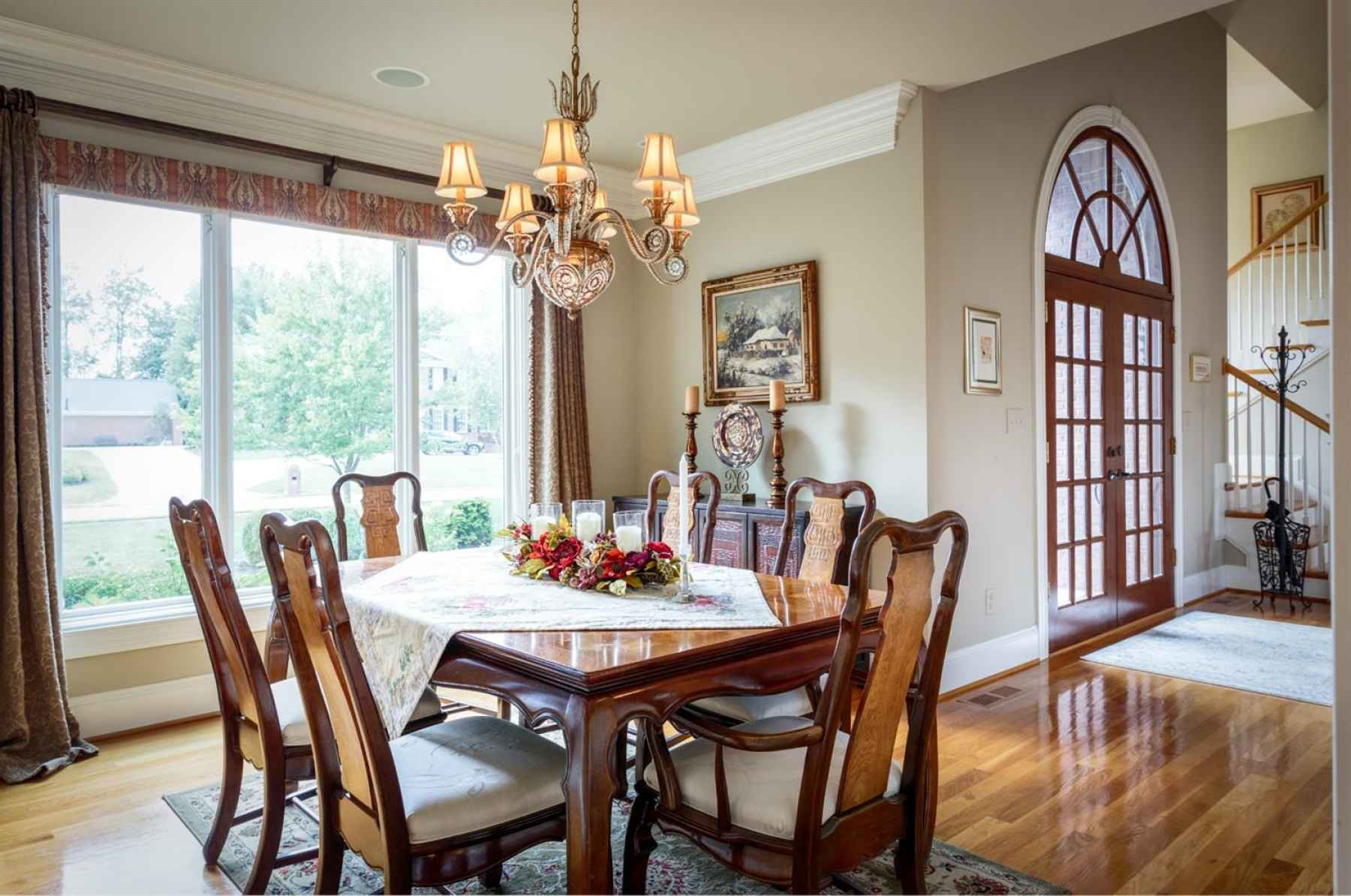 Spacious Dining Room with large windows for lot of natural light.