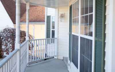 This home has a very nice covered front porch just waiting for your rocking chairs and friendly conversations or quiet contemplation.