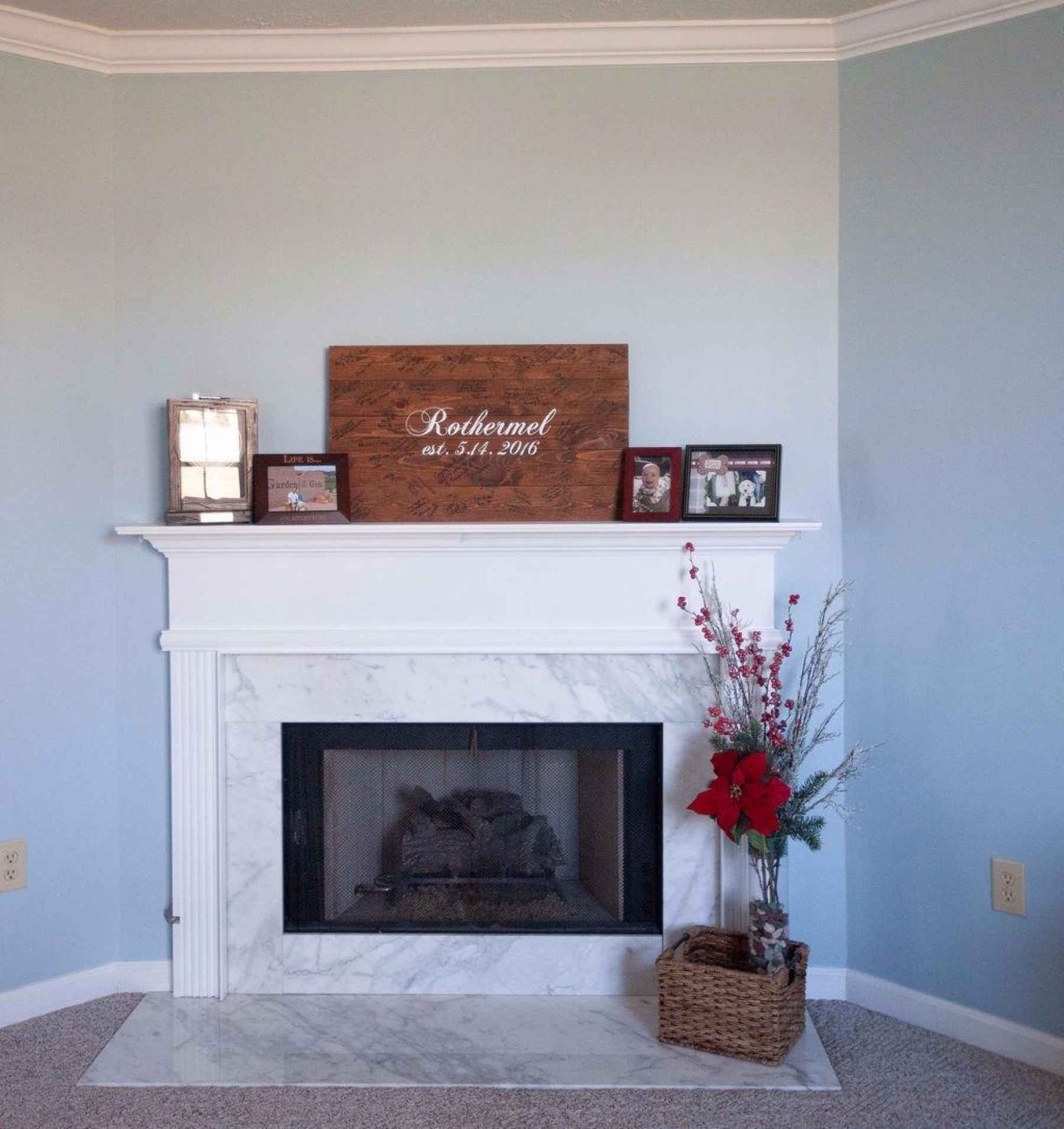Warm up by this cozy fireplace with marble facing and natural gas logs.