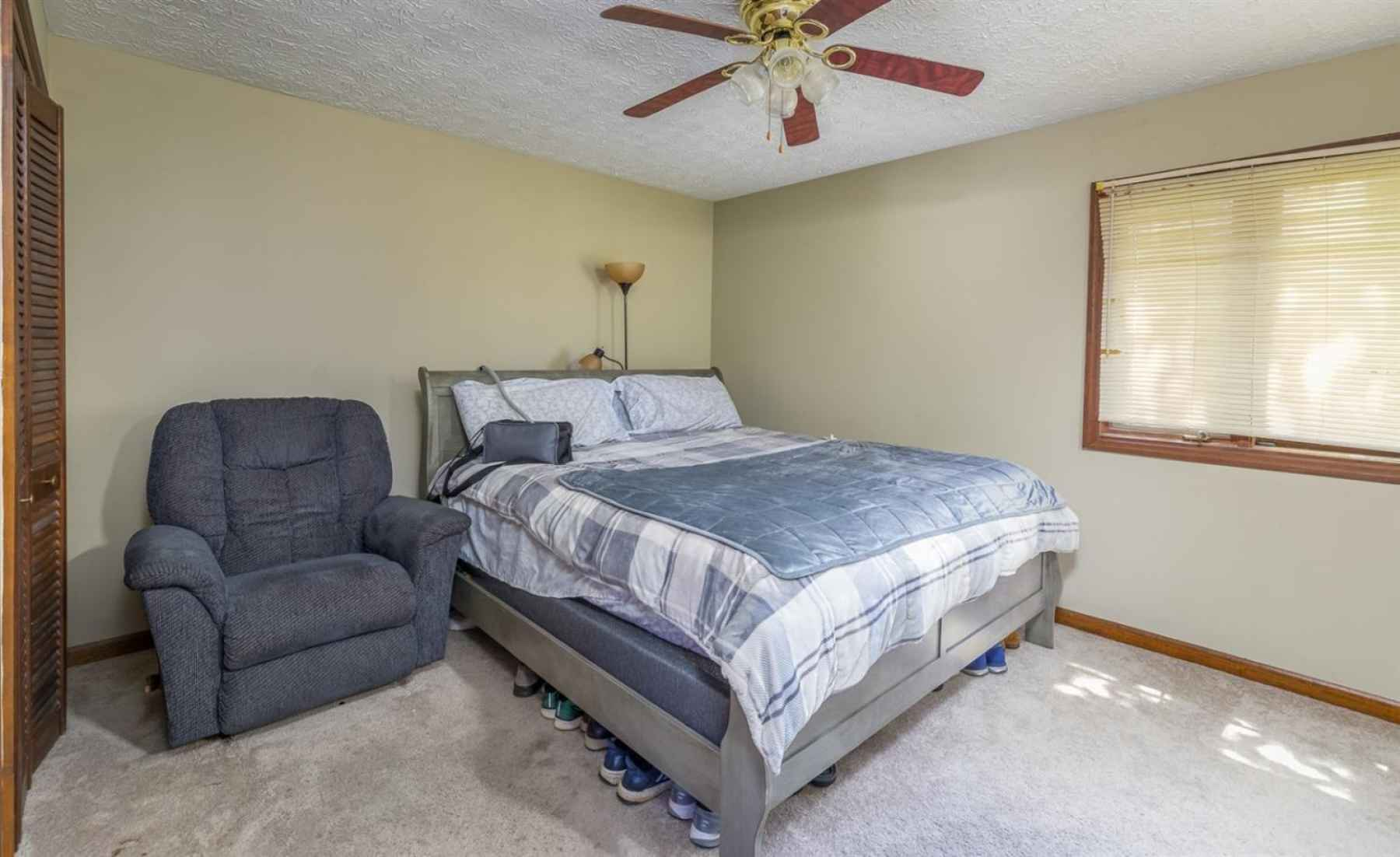 The master bedroom offers lots of room