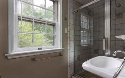 Upper Level Full Bath with Glass Enclosed Shower