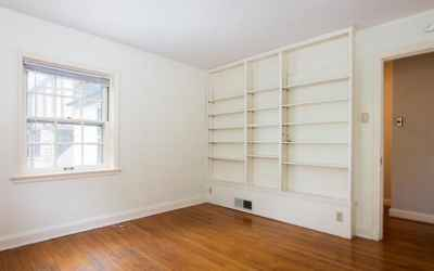 Bedroom with Built-in Shelving