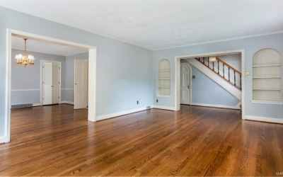 Opposite View in Living Room - Looking toward the Dining Room and Entrance