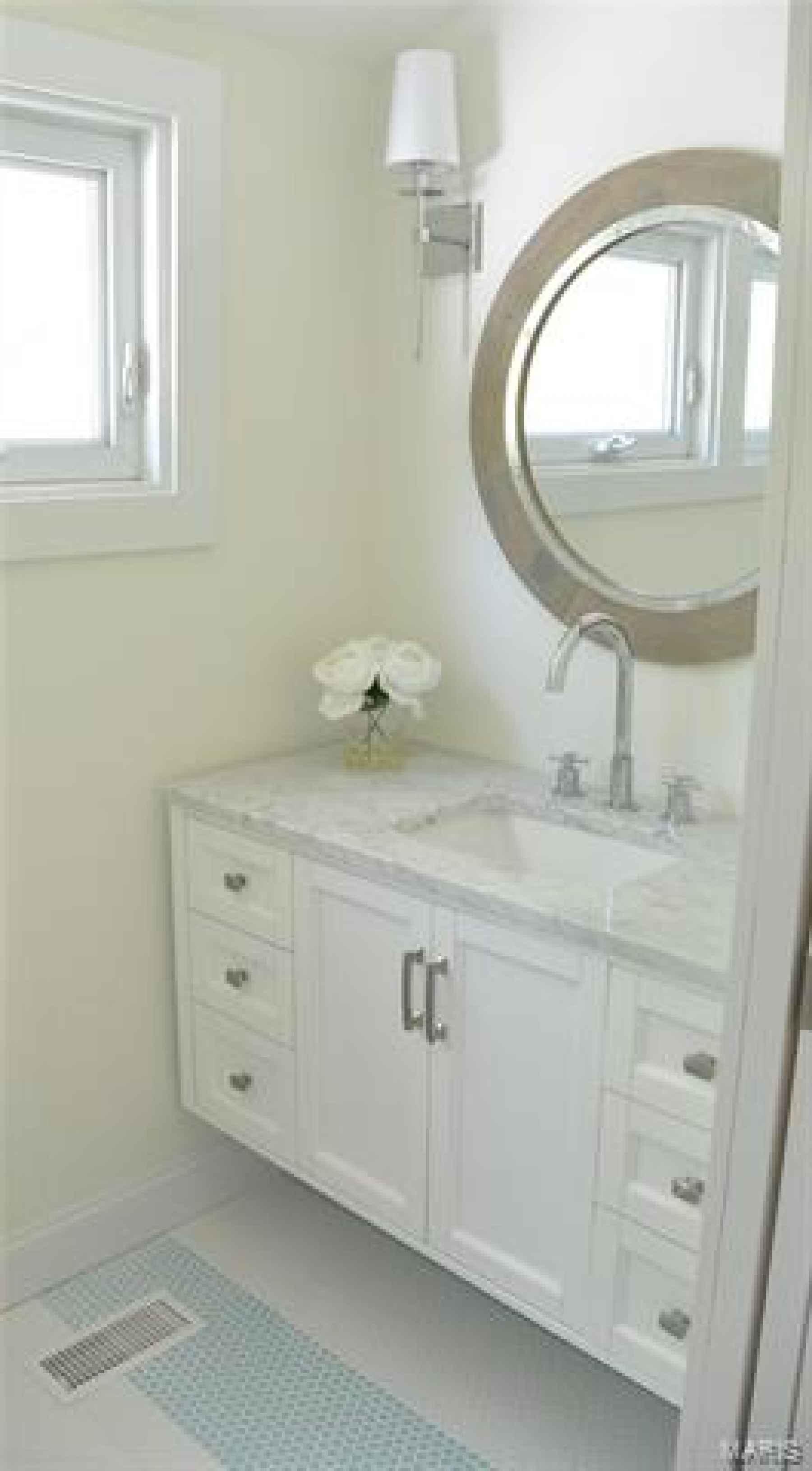 Second floor new bath with marble vanity