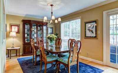 Separate dining room for formal or casual gatherings