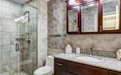 Renovated and luxurious master bathroom