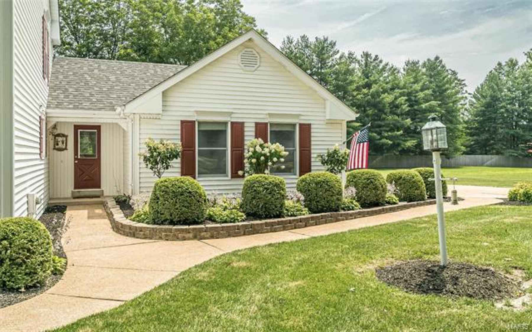 Beautifully landscaped and convenient second entrance.