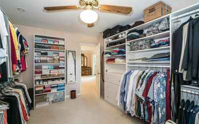Fabulous HUGE master closet.  Full length mirror and hide-a-way ironing board.