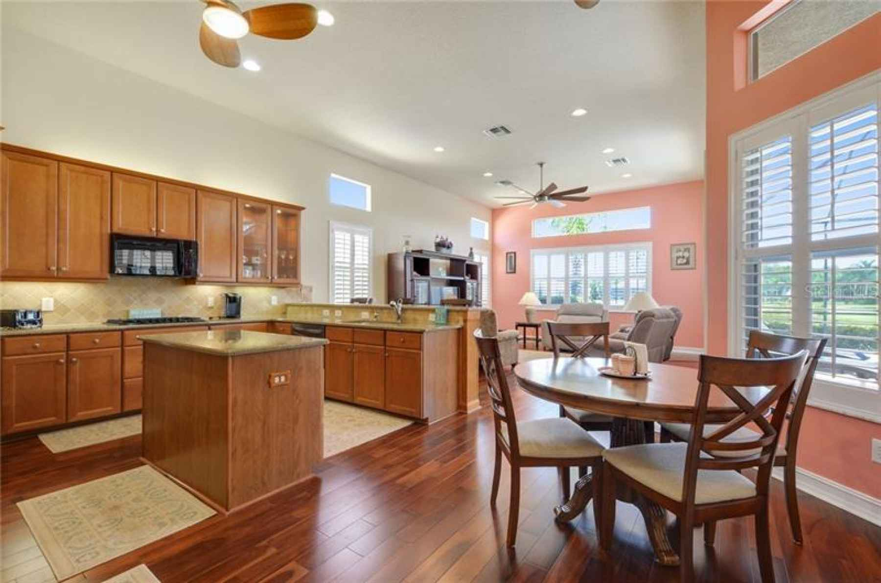 Kitchen open to family room!