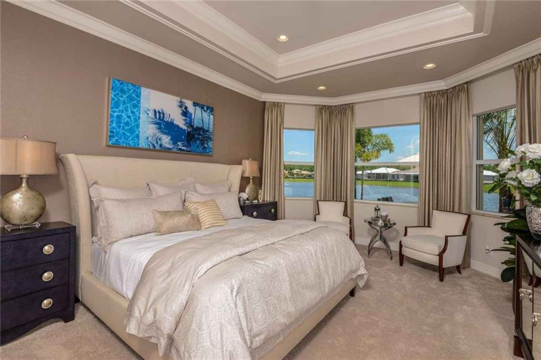 The Bellagio Royal Collection Builders Pics - Master Bedroom View.