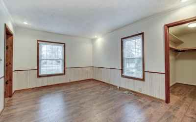 Dining room off kitchen with massive closet; could also be a flex space.