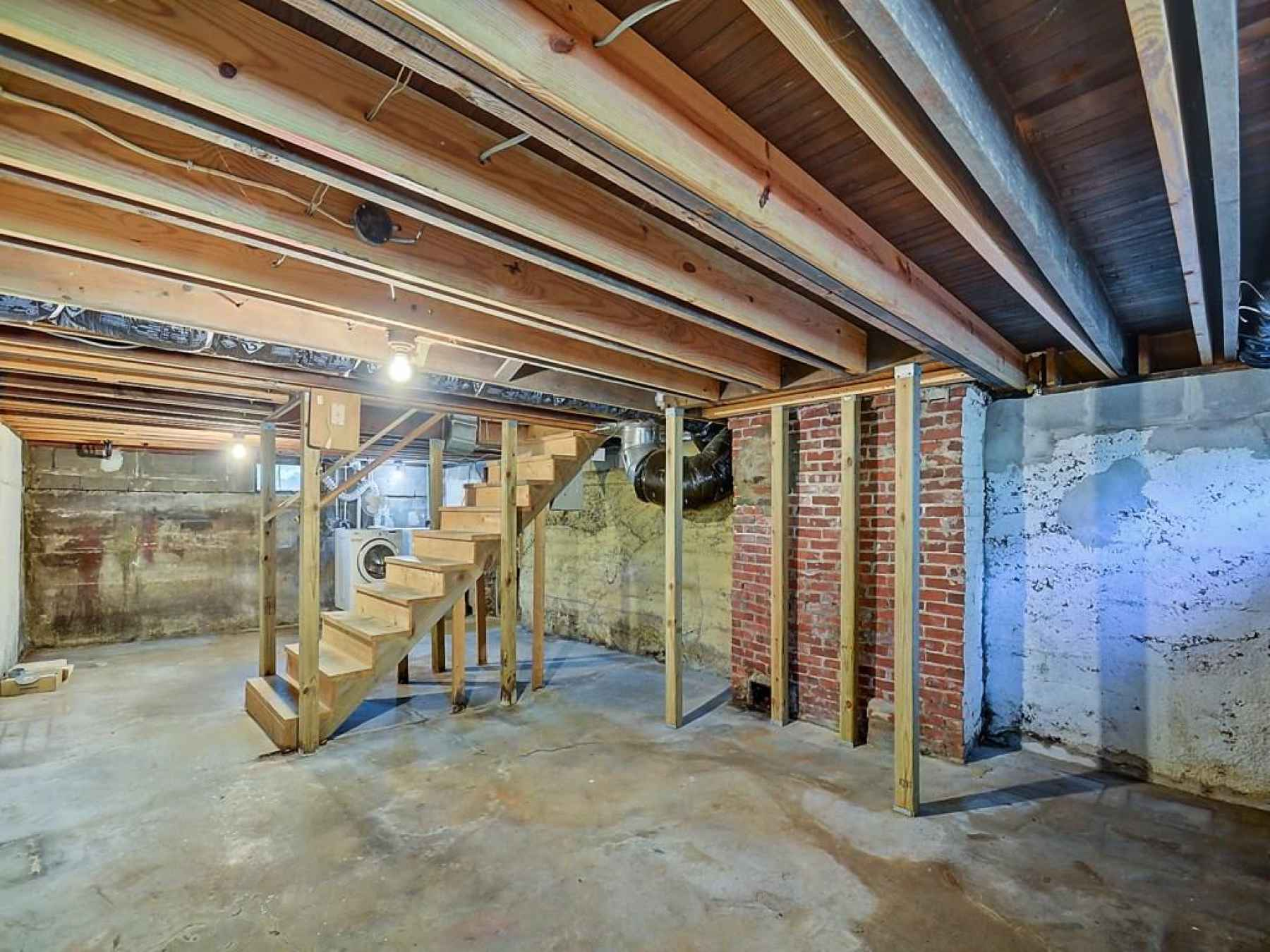 Basement that's perfect for storage.