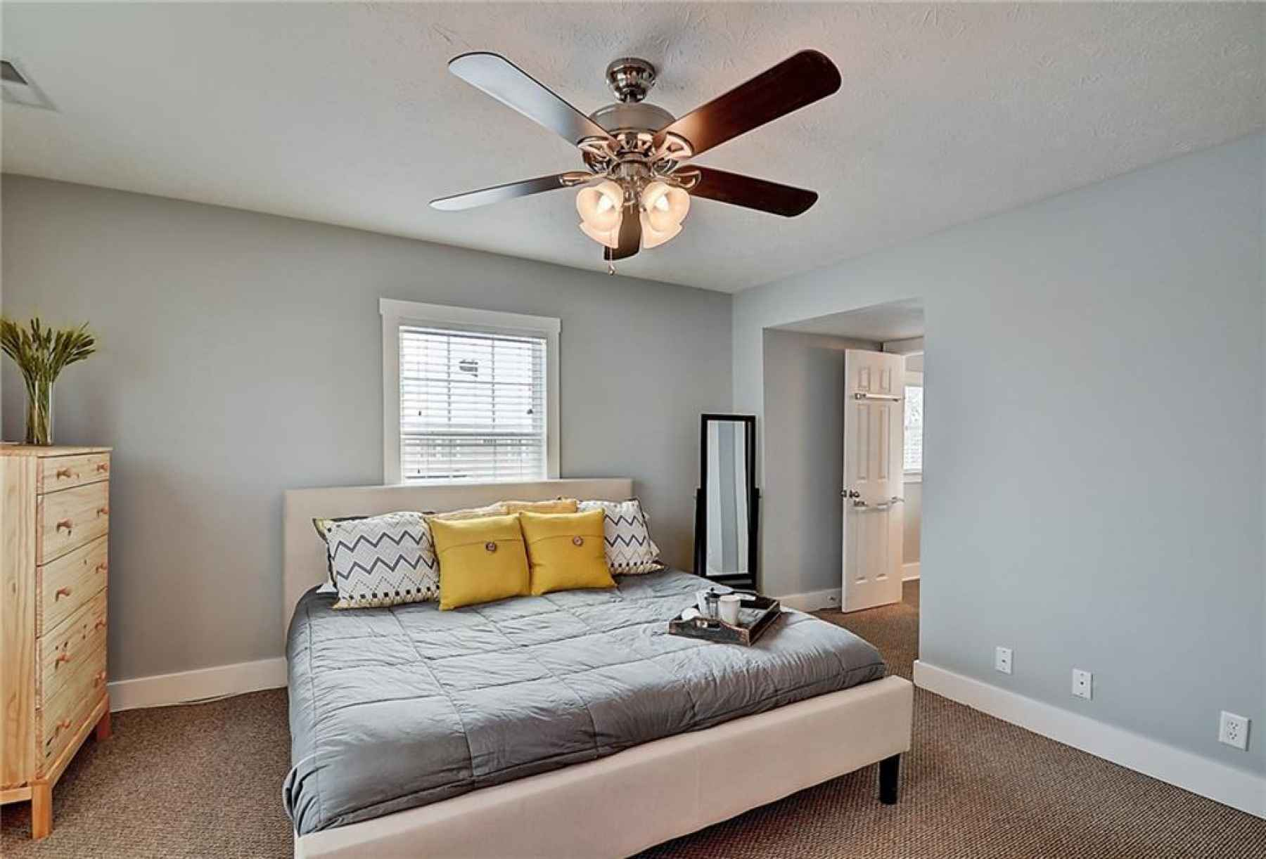 Second floor. Master bedroom. Walk-in closet and en-suite bath is located in the right of this photo