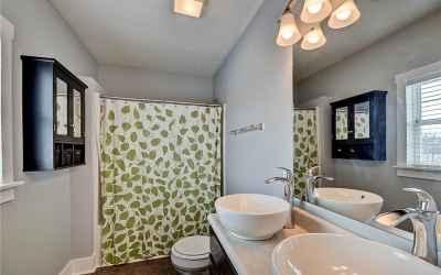 Second floor. Master bathroom with double sinks.