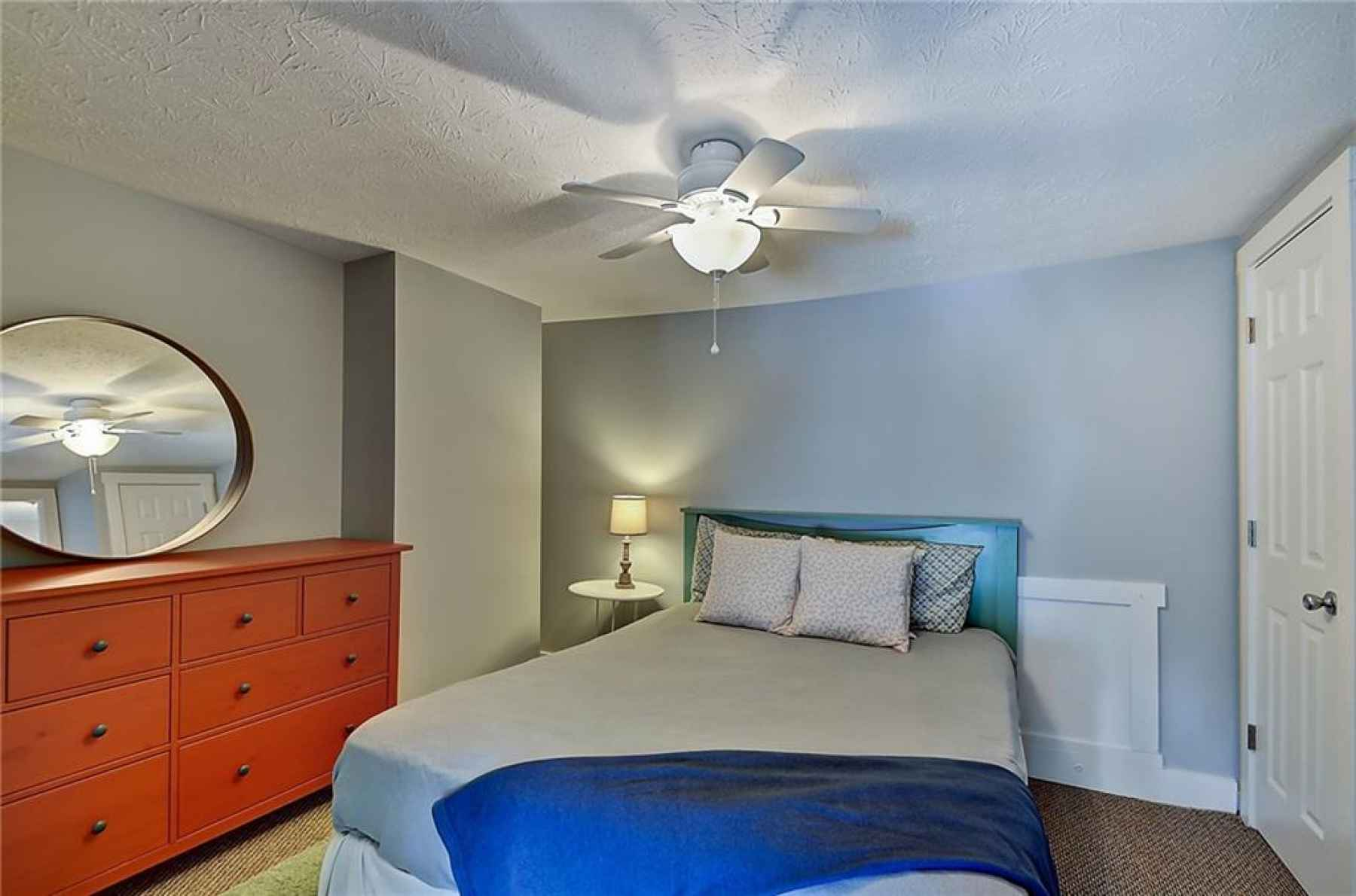 Third floor. Fourth bedroom. Located in the southeast corner of home. Closet door in the right of th