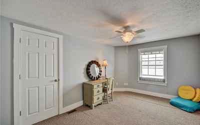 Third floor. Fifth bedroom located in the northeast corner of home. Closet door on the left of the p