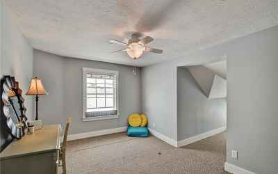 Third floor. Fifth bedroom. Located in the northeast corner of home. Fun, reading/play nook on the r