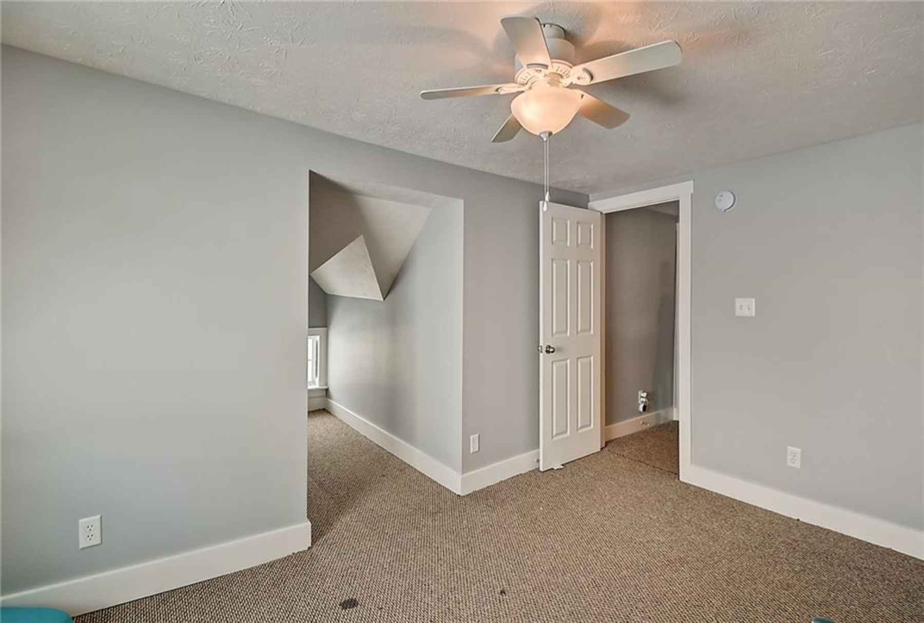 Third floor. Fifth bedroom. Located in the northeast corner of home. Nook in the middle of the pictu