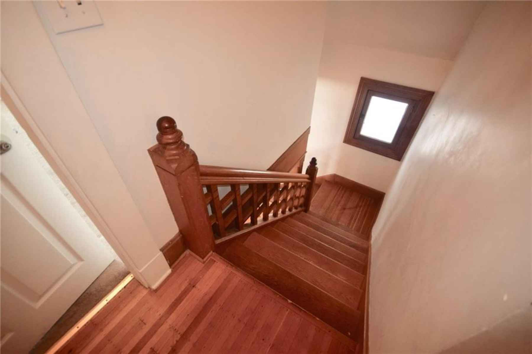 Staircase from second floor landing.