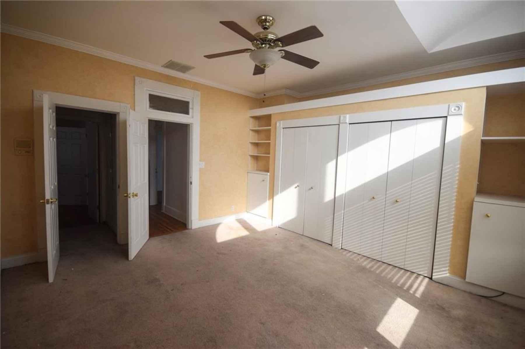 Second floor. Master bedroom. Windows overlook Ohio Street.