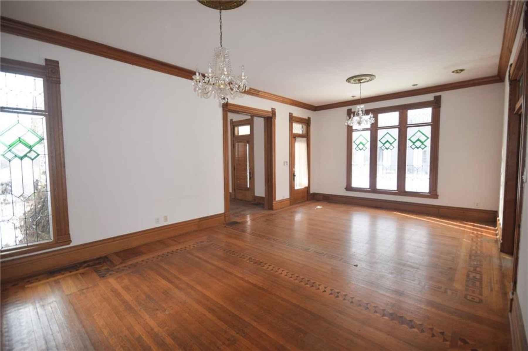 Main floor. Great Room. Front door is on the far right.
