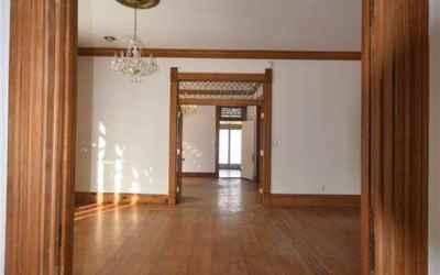 Main floor. Fireplace in Living Room.