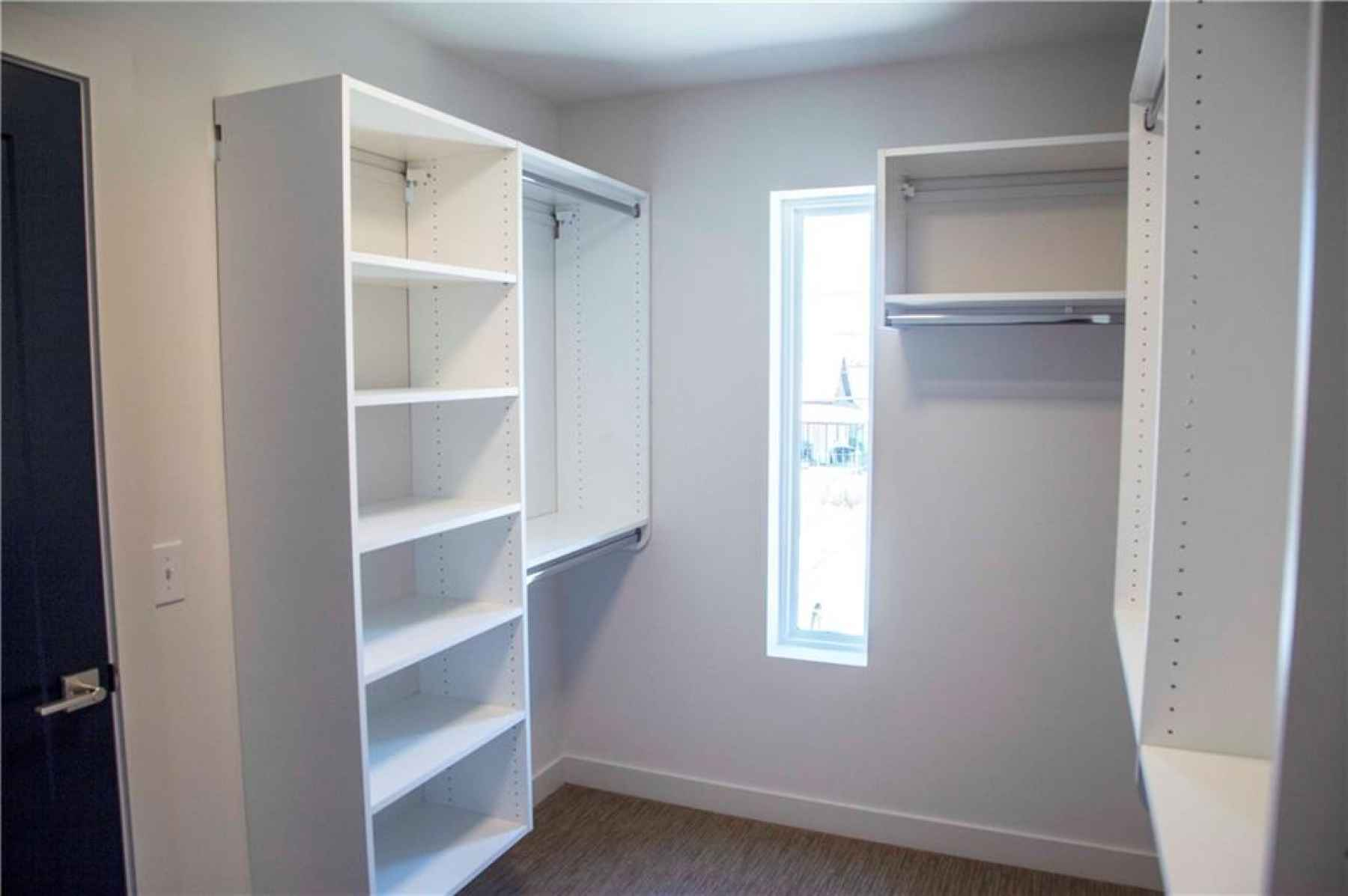 Master suite walk-in closet.