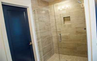 Master walk-in shower.