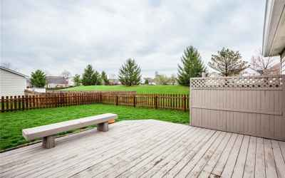 Deck and fenced yard!