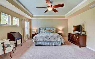 Large Master Bedroom with gorgeous ceiling