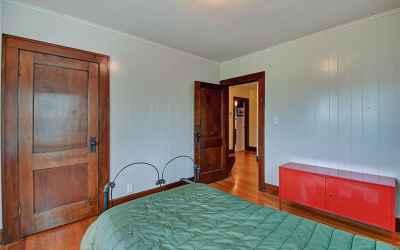 Second floor. Second bedroom. The door on the left is the closet.