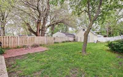 Fully fenced in backyard.