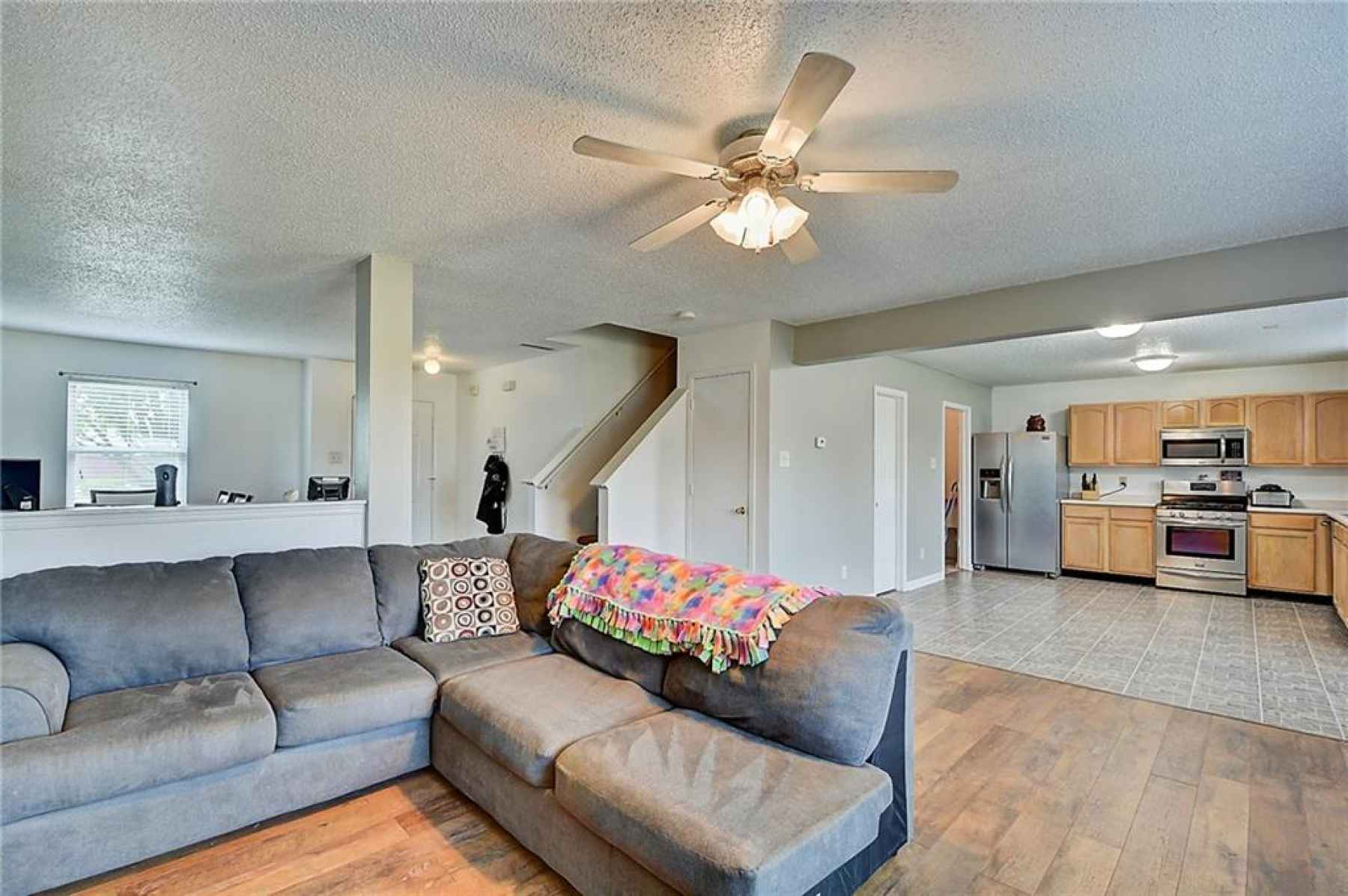 Great for hosting, the living room is wide open to the rest of your first floor. Great for game nigh