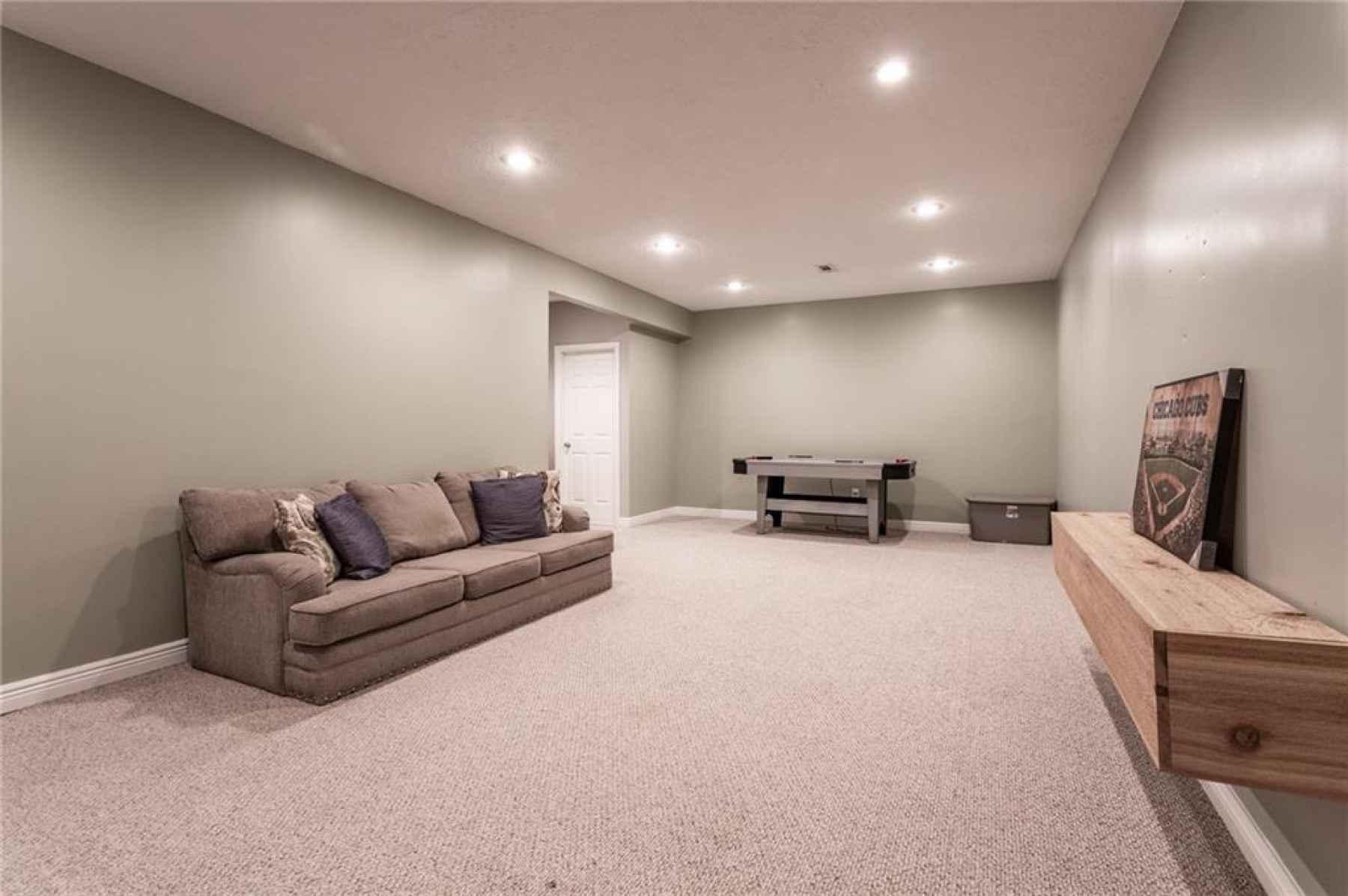 Basement family room.
