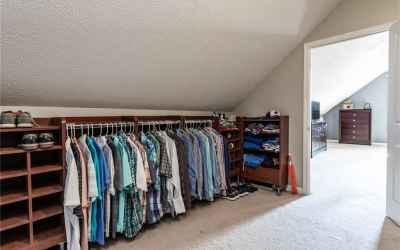 Second floor master bedroom walk-in closet.