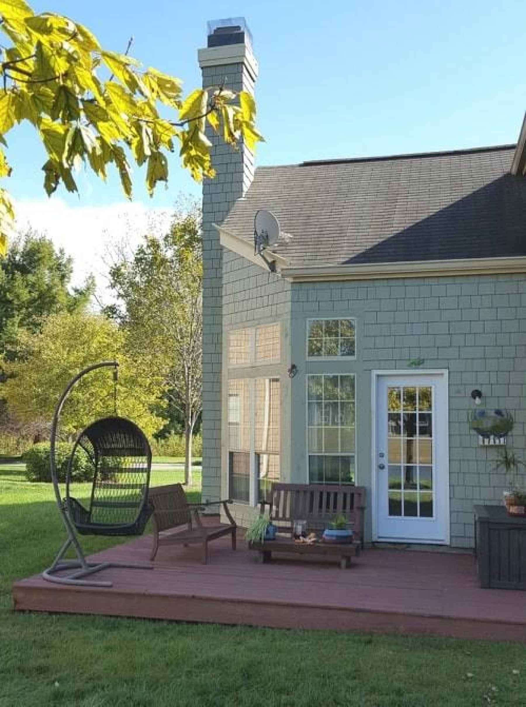 Relax on your newly-stained deck... taking in your lake view!