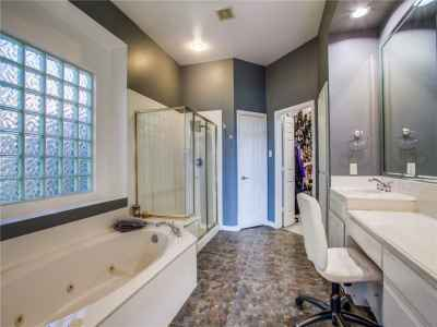 Separate tub and shower in master bath