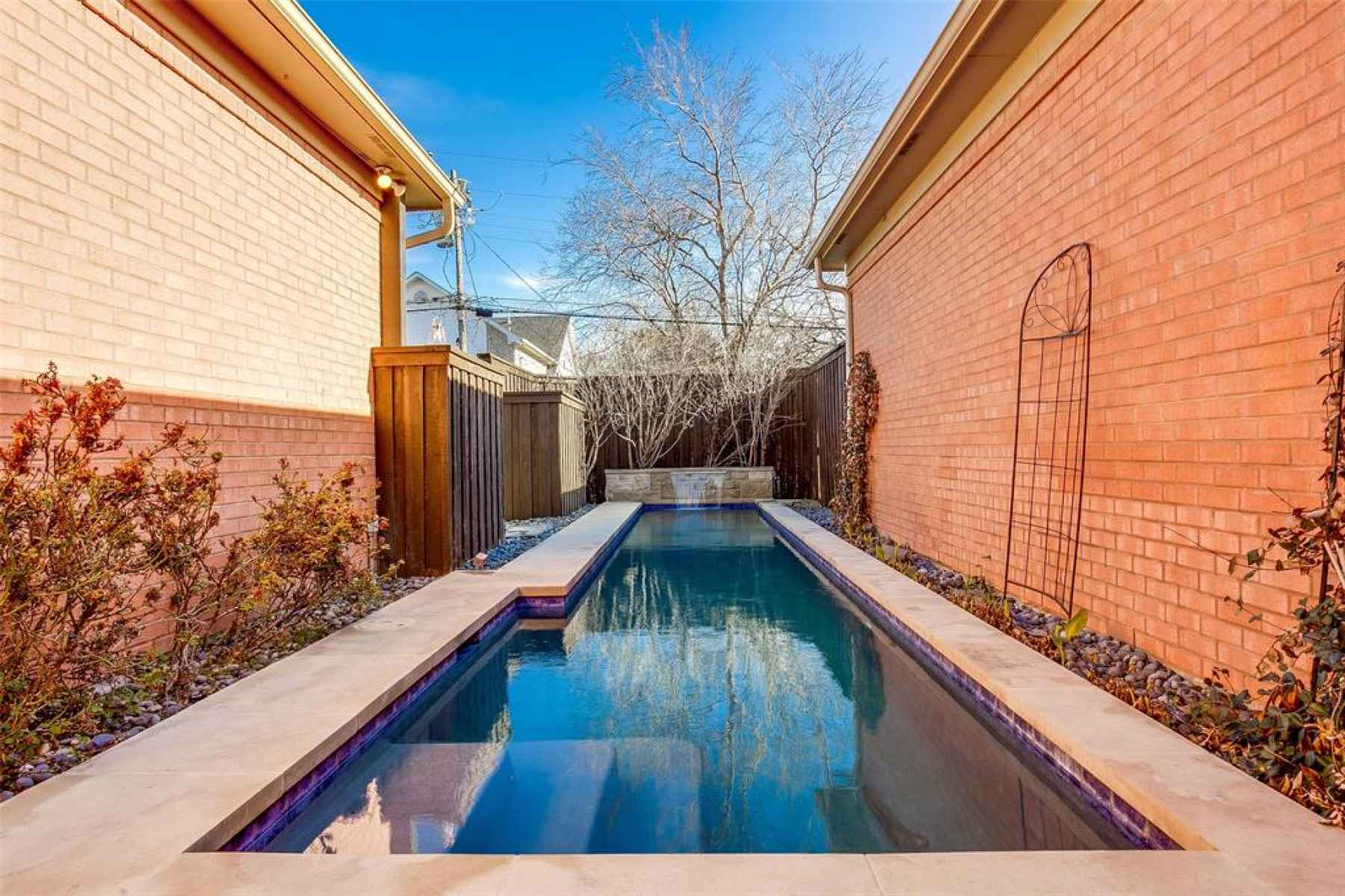Pool access from main unit 3524 N Versailles.